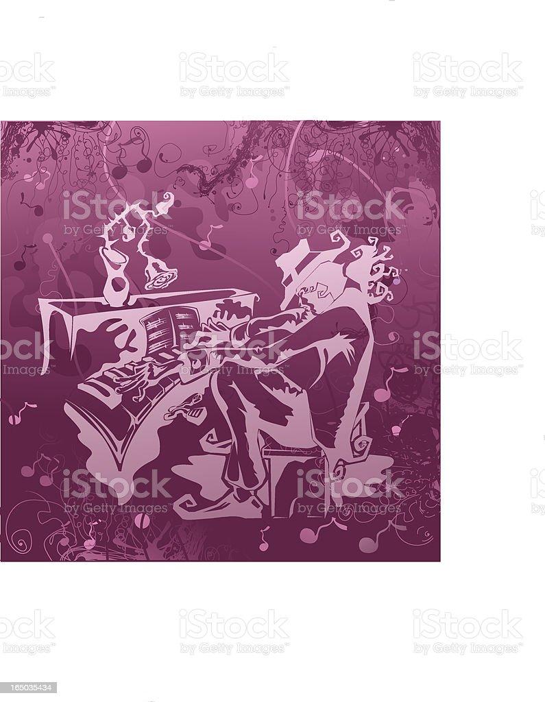 Jazzman vector art illustration