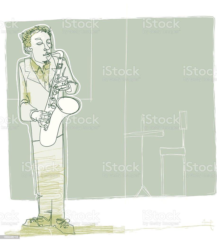 Jazzy sax royalty-free stock vector art
