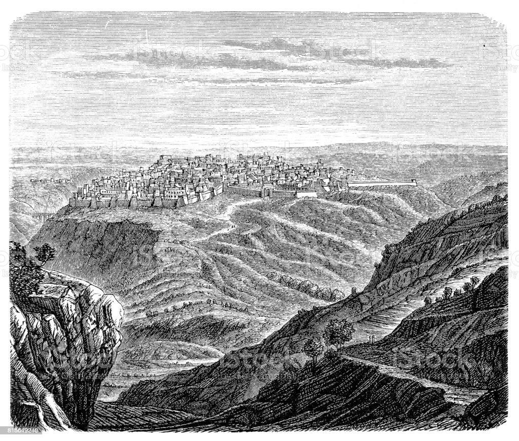 Jerusalem in the time of David and Solomon vector art illustration