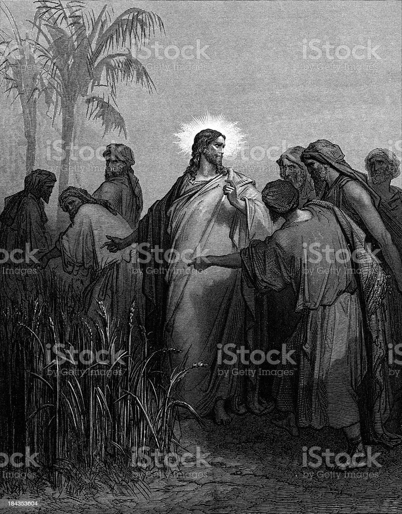 Jesus and the Sabbath vector art illustration