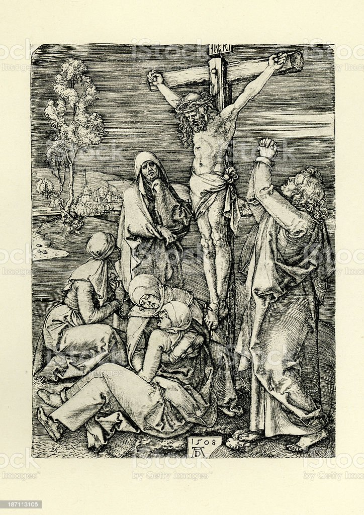 Jesus Christ on the Cross royalty-free stock vector art