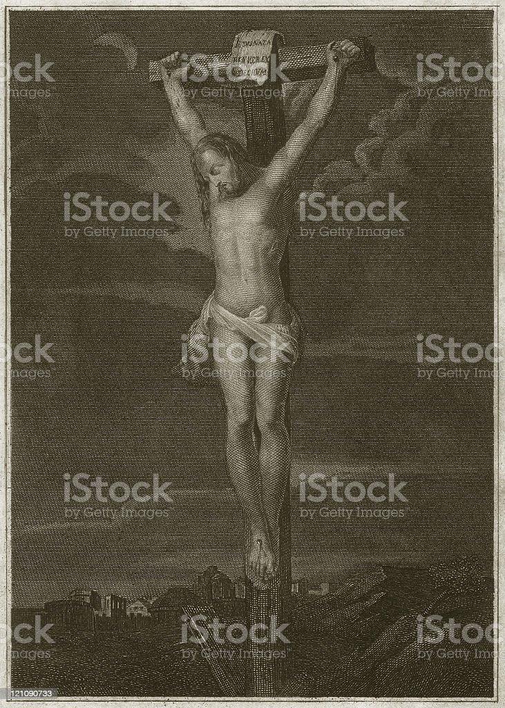 Jesus' Crucifixion vector art illustration