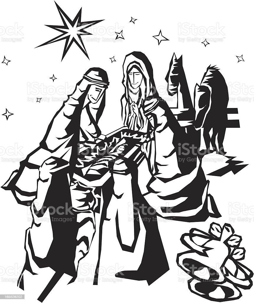 Jesus is born royalty-free stock vector art