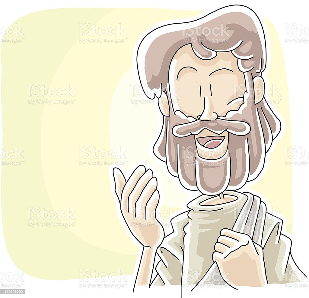 Jesus is talking to you vector art illustration
