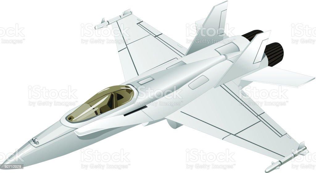 Jet Fighter (Vector) vector art illustration