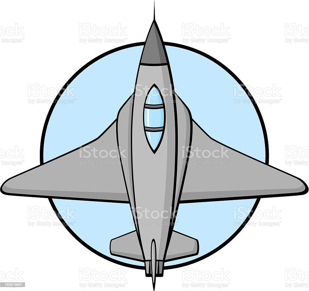 jet fighter plane royalty-free stock vector art