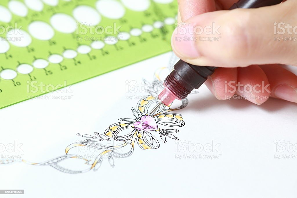 Jewelry design royalty-free stock vector art