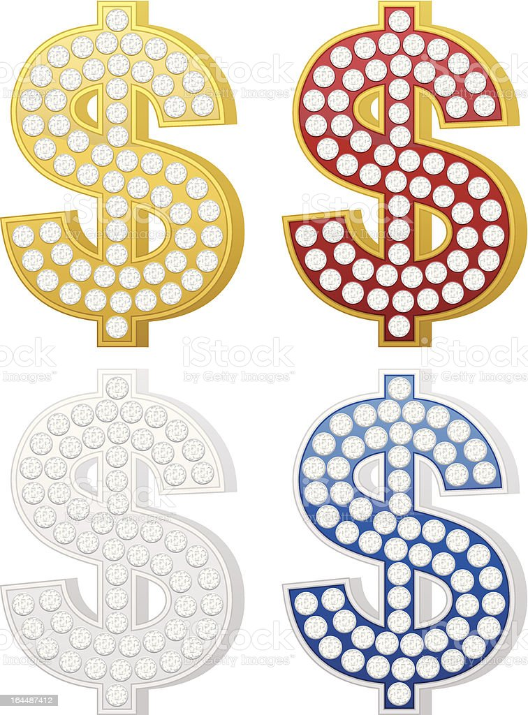 jewelry dollar symbol royalty-free stock vector art