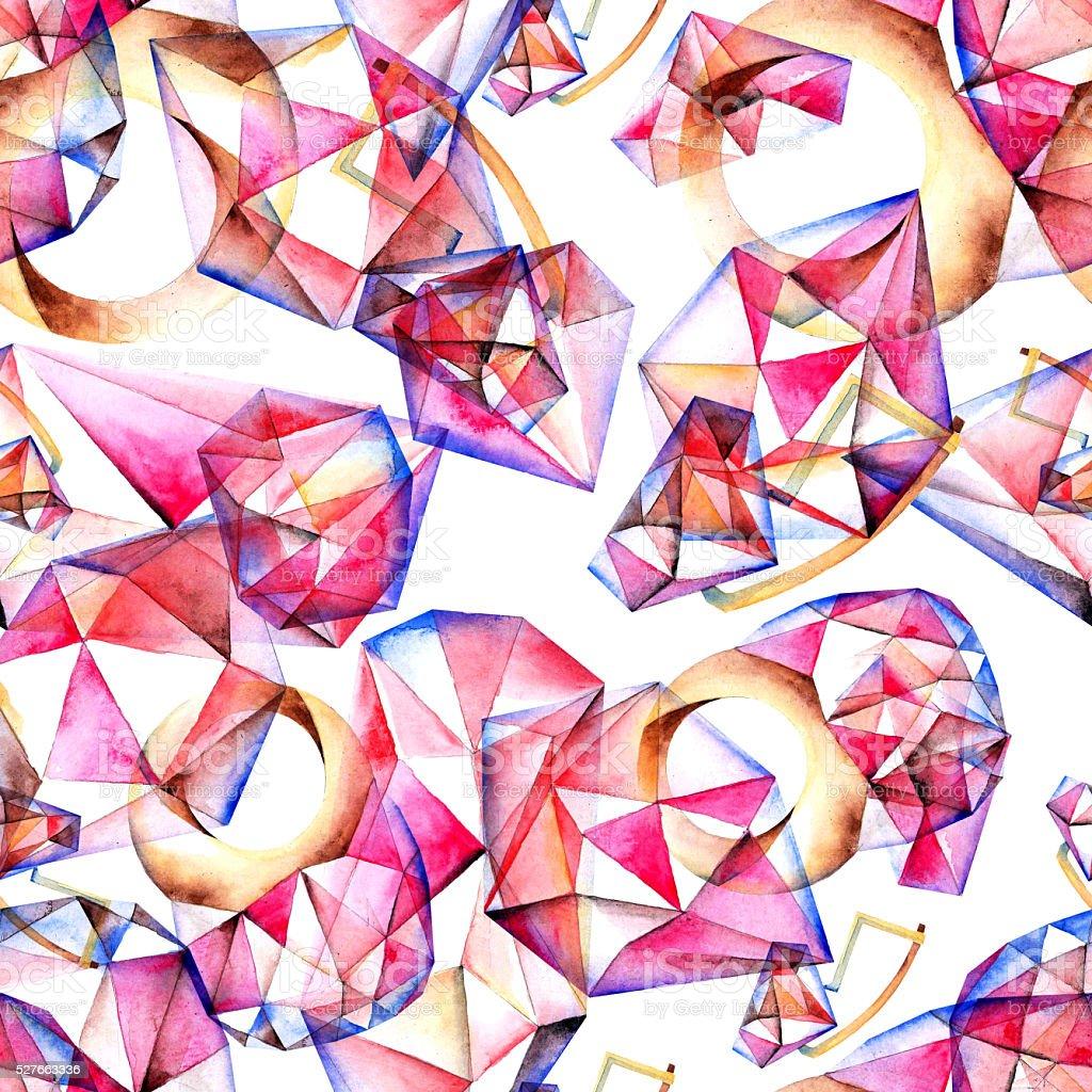 Jewelry pattern vector art illustration