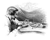Jewelry-making: Filing process (antique engraving)