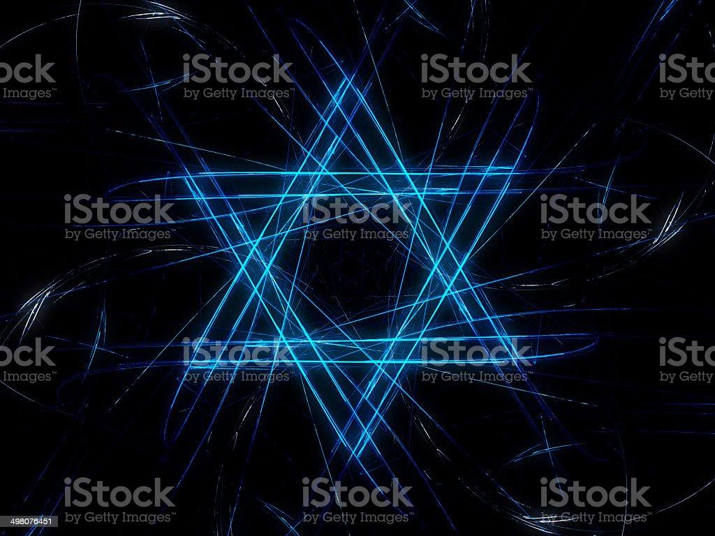 Jewish David star design vector art illustration