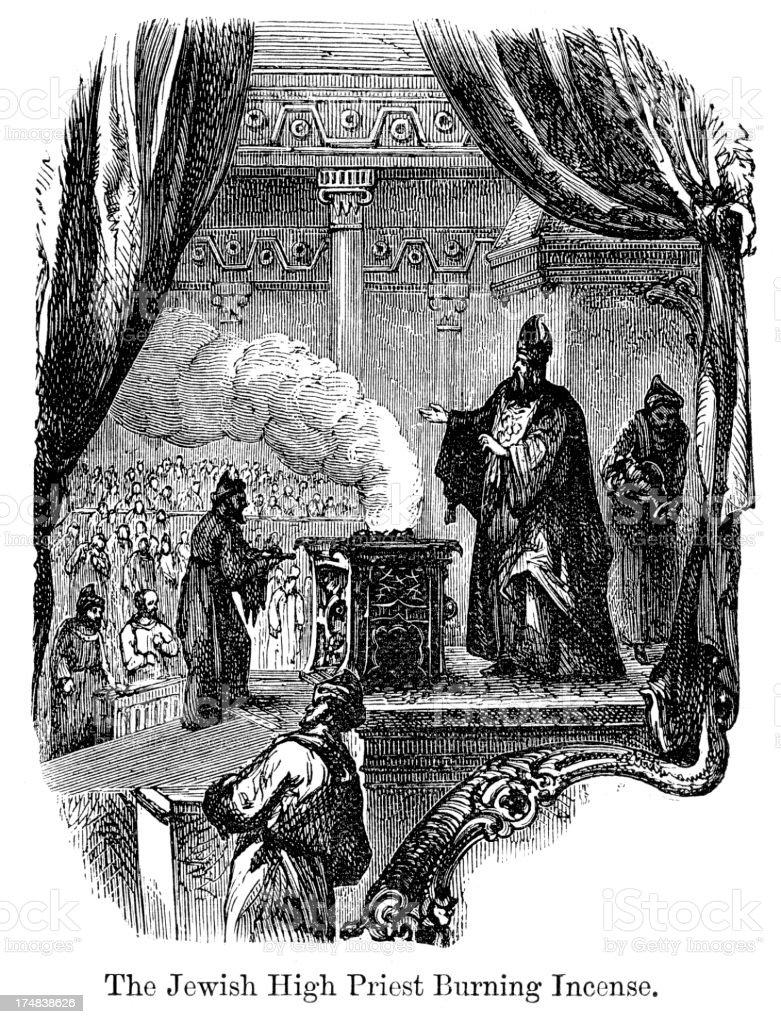 Jewish High Priest vector art illustration