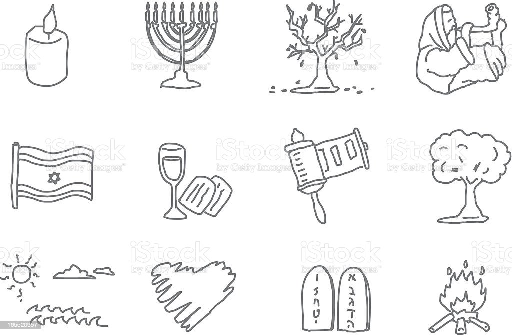 Jewish Months royalty-free stock vector art