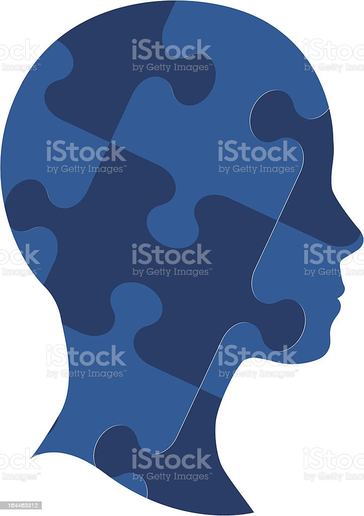 Jigsaw Puzzle Head royalty-free stock vector art