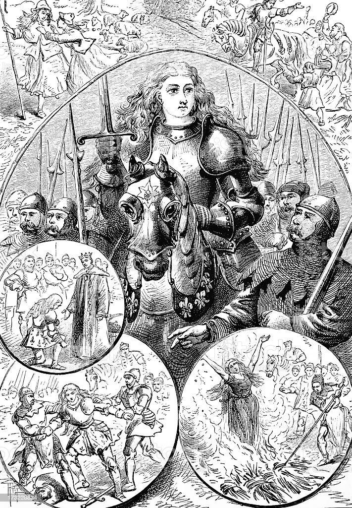 Joan of Arc  - Victorian Illustration royalty-free stock vector art