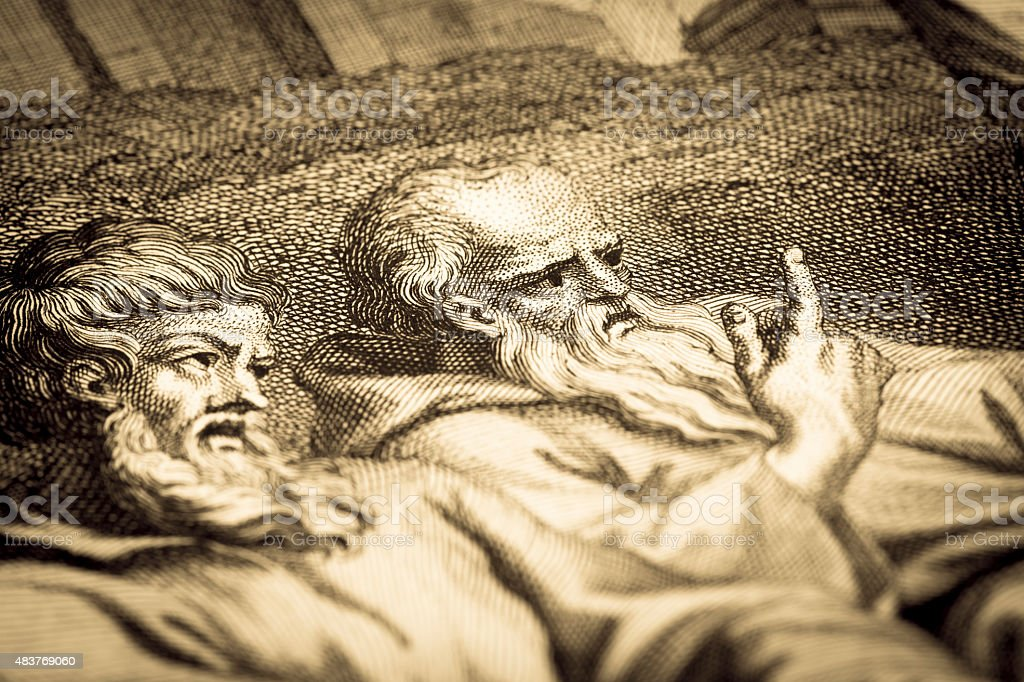 Job among the ashes, 18th century Christian religion illustration vector art illustration