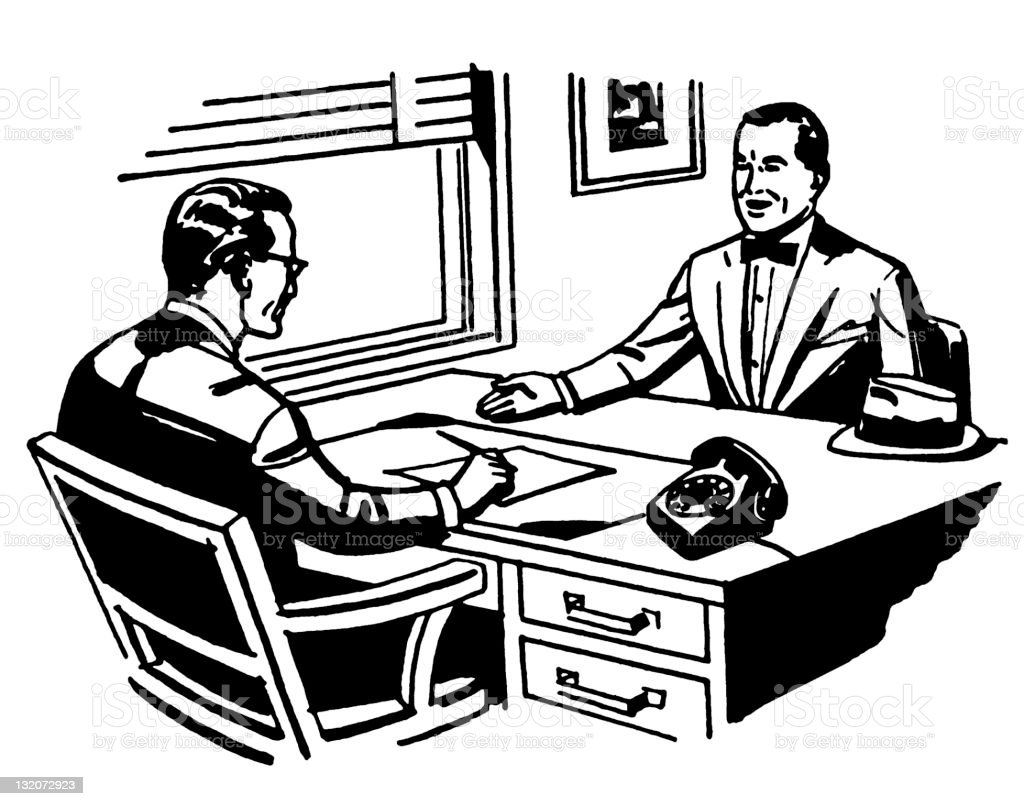 Job Interview or Meeting royalty-free stock vector art
