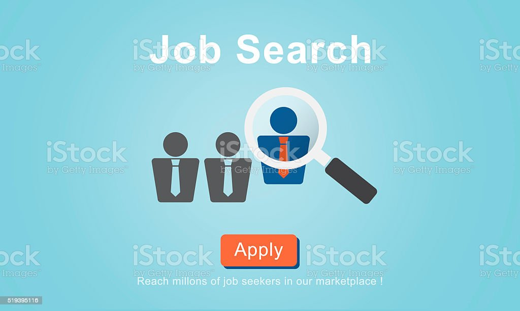 Jobs Recruitment Employment Human Resources Website Online Conce vector art illustration