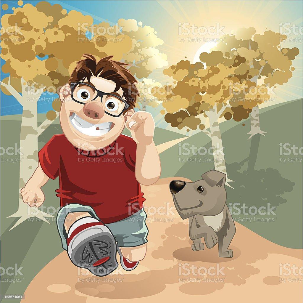 Jogging time! vector art illustration