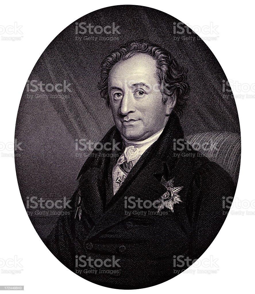 Johann Wolfgang von Goethe,German writer, artist, and politician (XXXL) royalty-free stock vector art