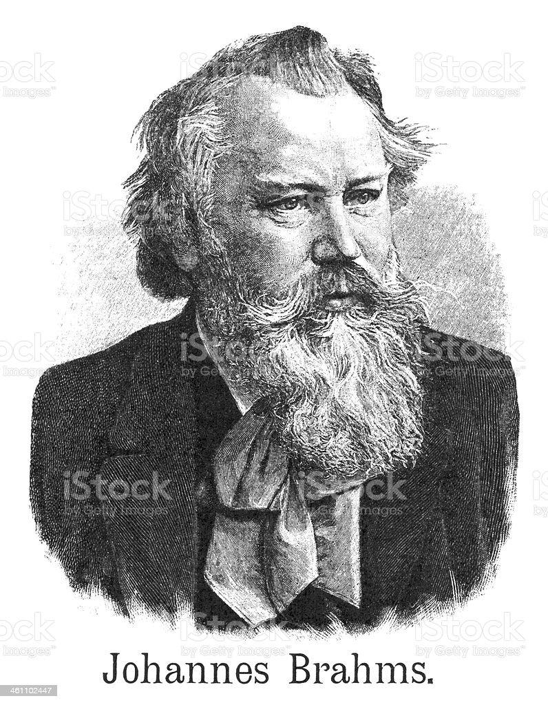 Johannes Brahms - Antique Illustration vector art illustration