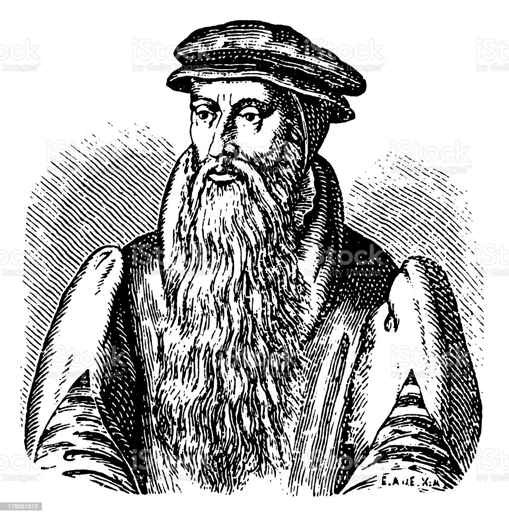 Johannes Gutenberg | Antique Portrait Gallery royalty-free stock vector art