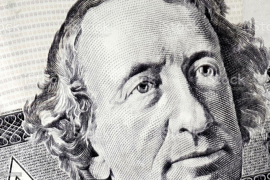John A. Macdonald vector art illustration