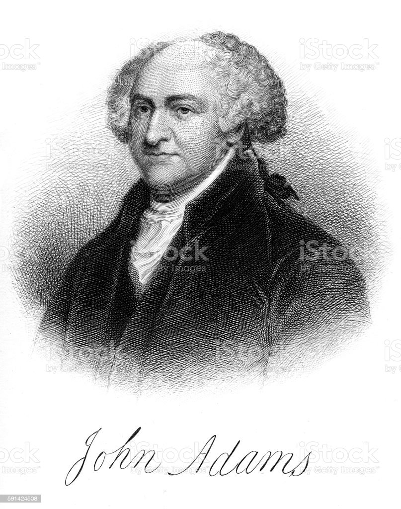 John Adams vector art illustration