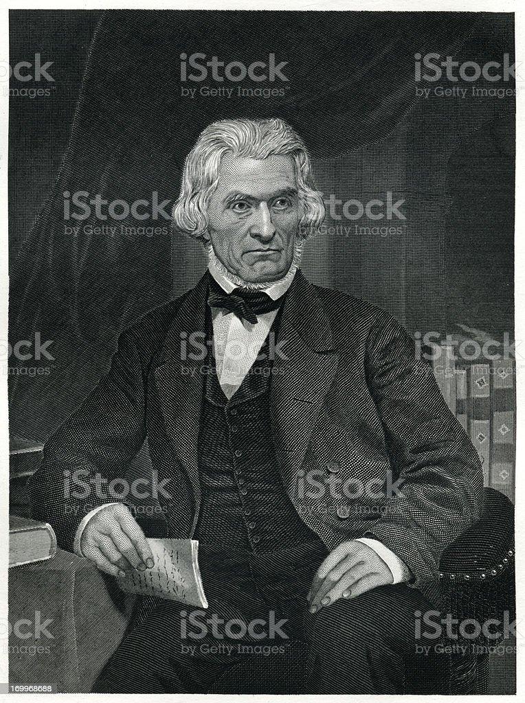John C. Calhoun royalty-free stock vector art