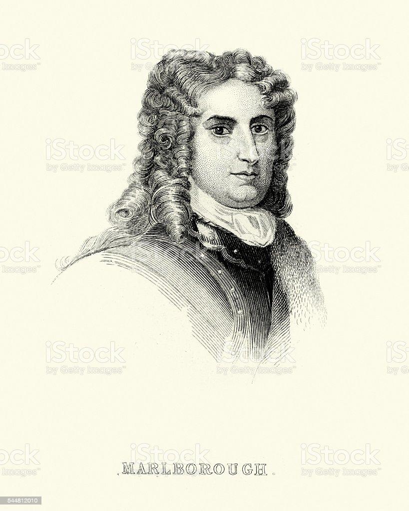 John Churchill, 1st Duke of Marlborough vector art illustration