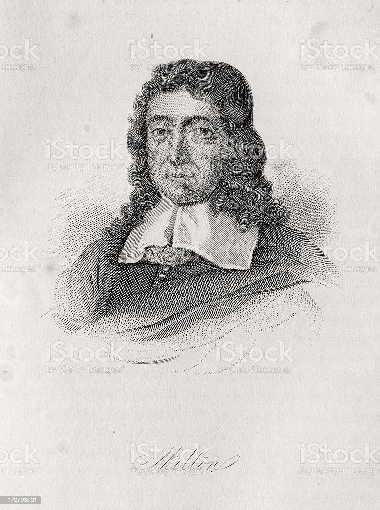 John Milton royalty-free stock vector art