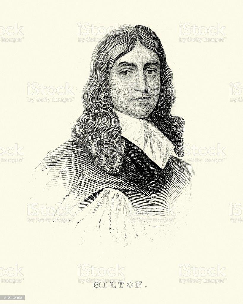 John Milton vector art illustration