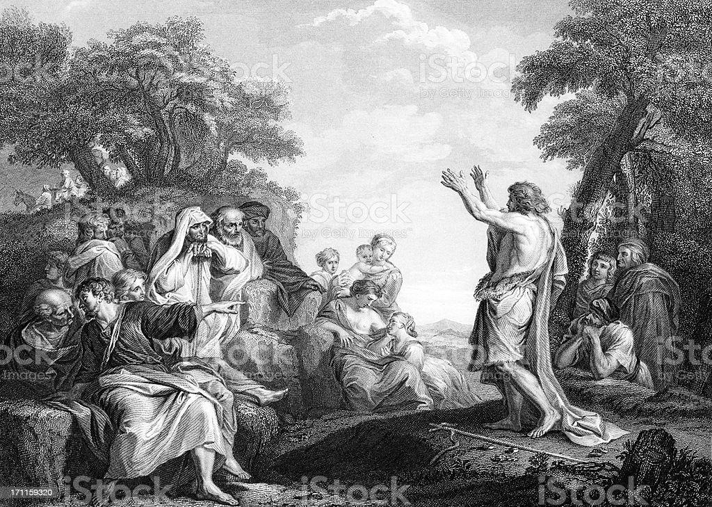 John Preaching royalty-free stock vector art