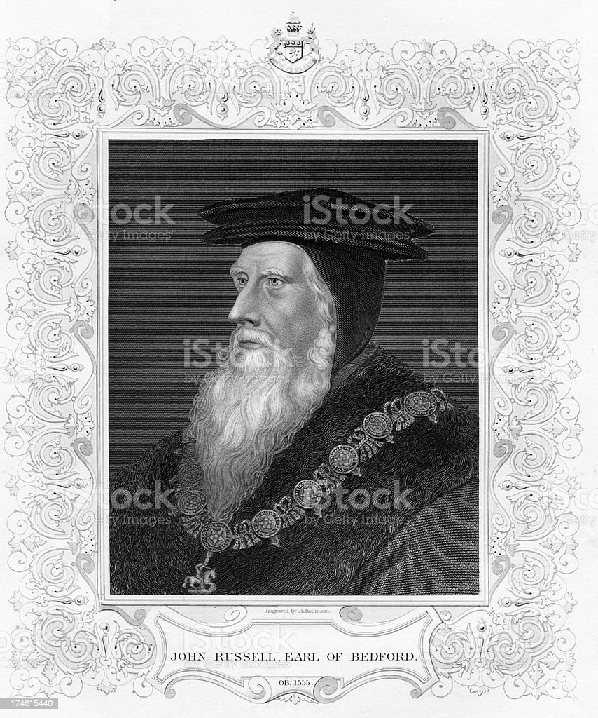 John Russell Earl of Bedford royalty-free stock vector art