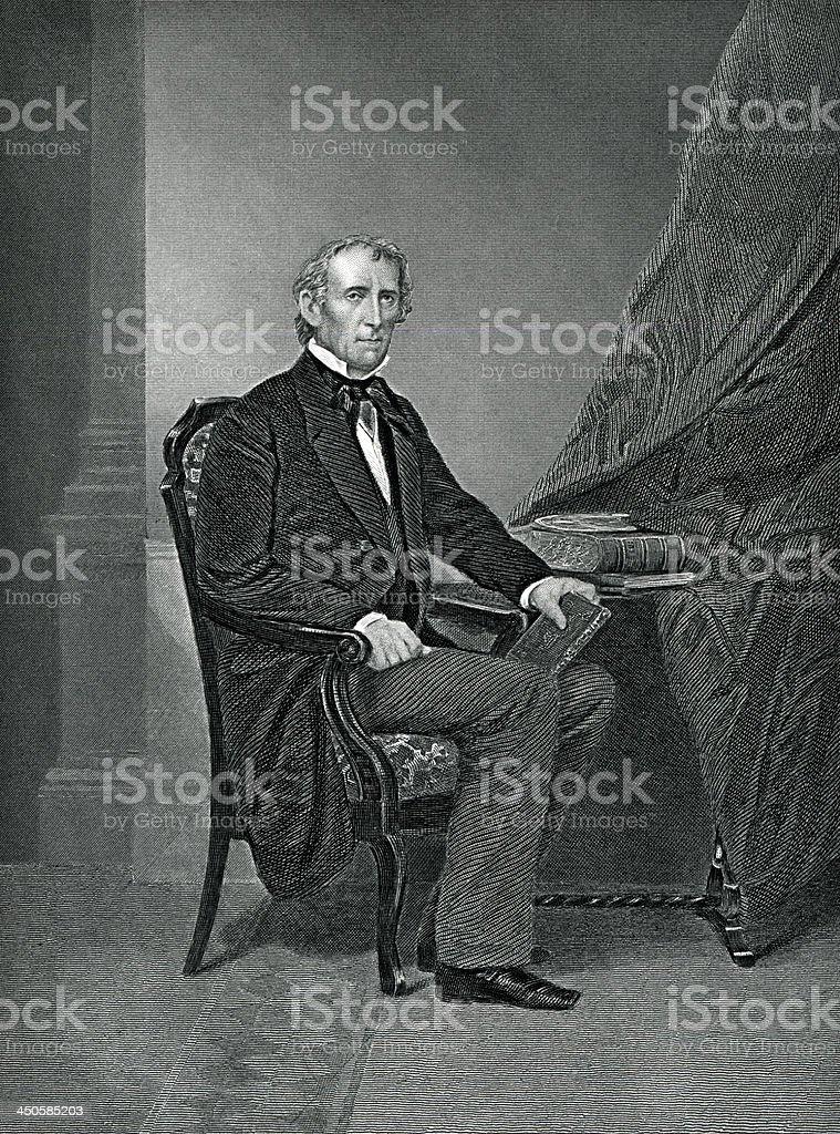 John Tyler royalty-free stock vector art