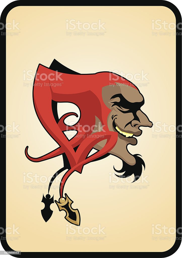 Joker card royalty-free stock vector art