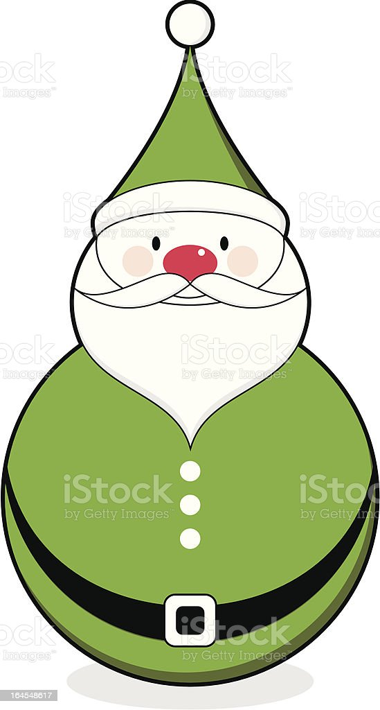 Jolly Green Santa Claus Character Icon royalty-free stock vector art