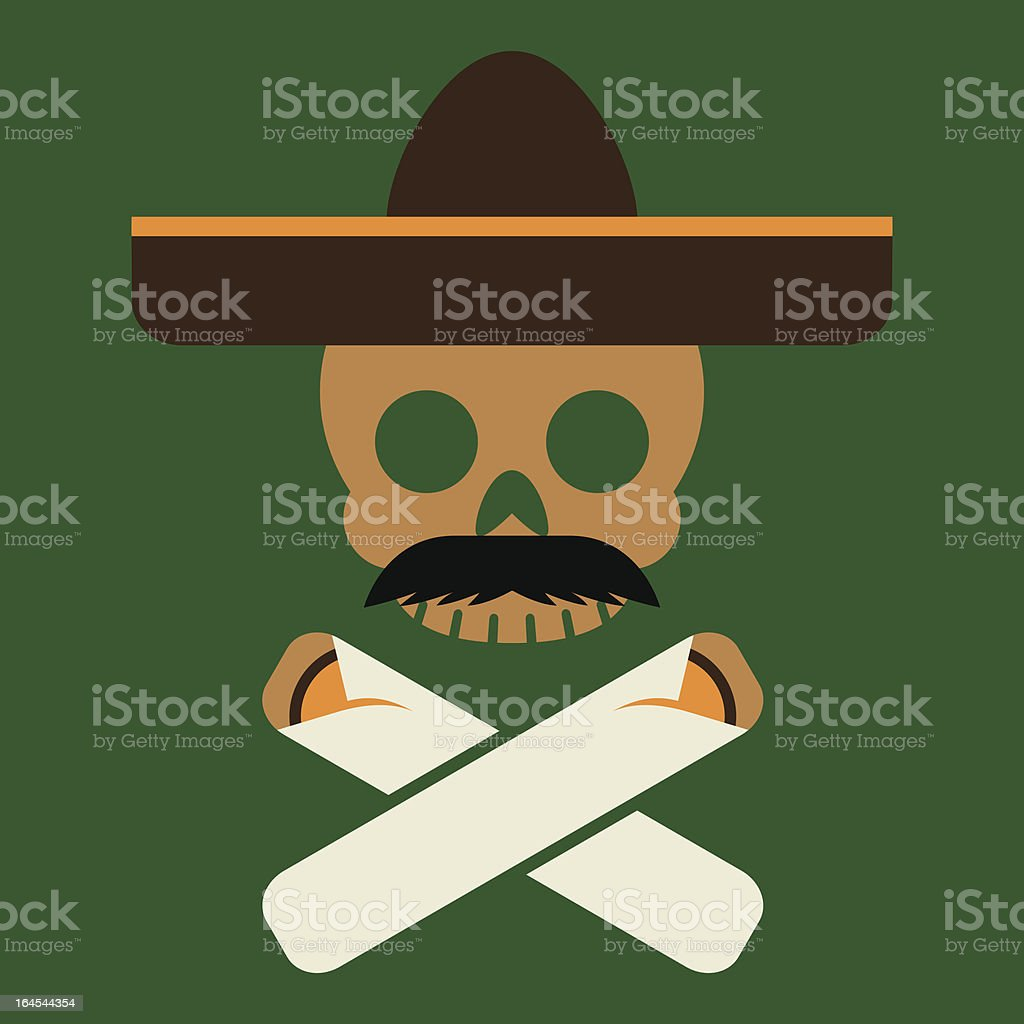Jolly Rogeriquez vector art illustration