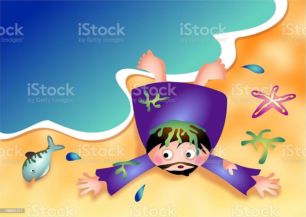 Jonah royalty-free stock vector art