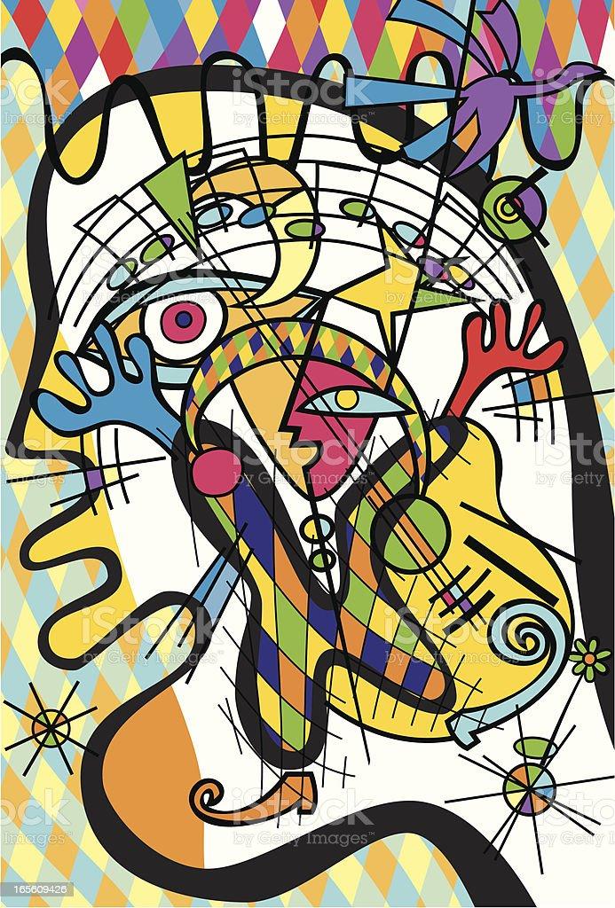 Jongleur vector art illustration