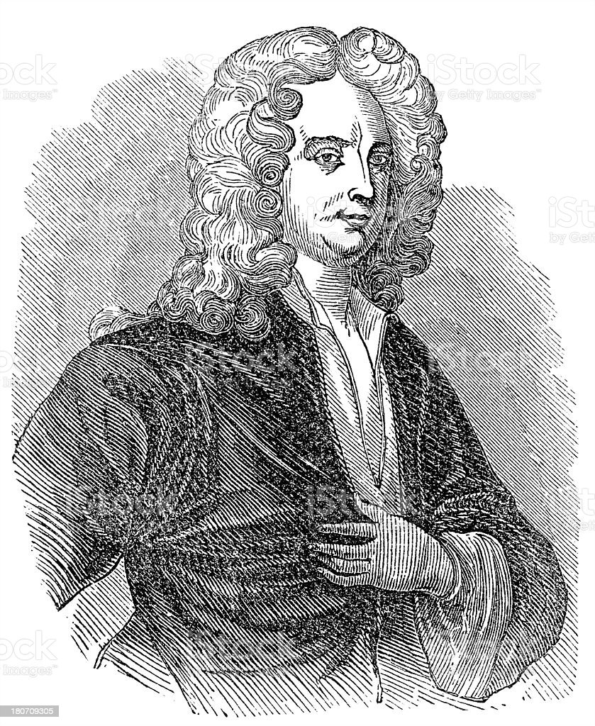 Joseph Addison royalty-free stock vector art