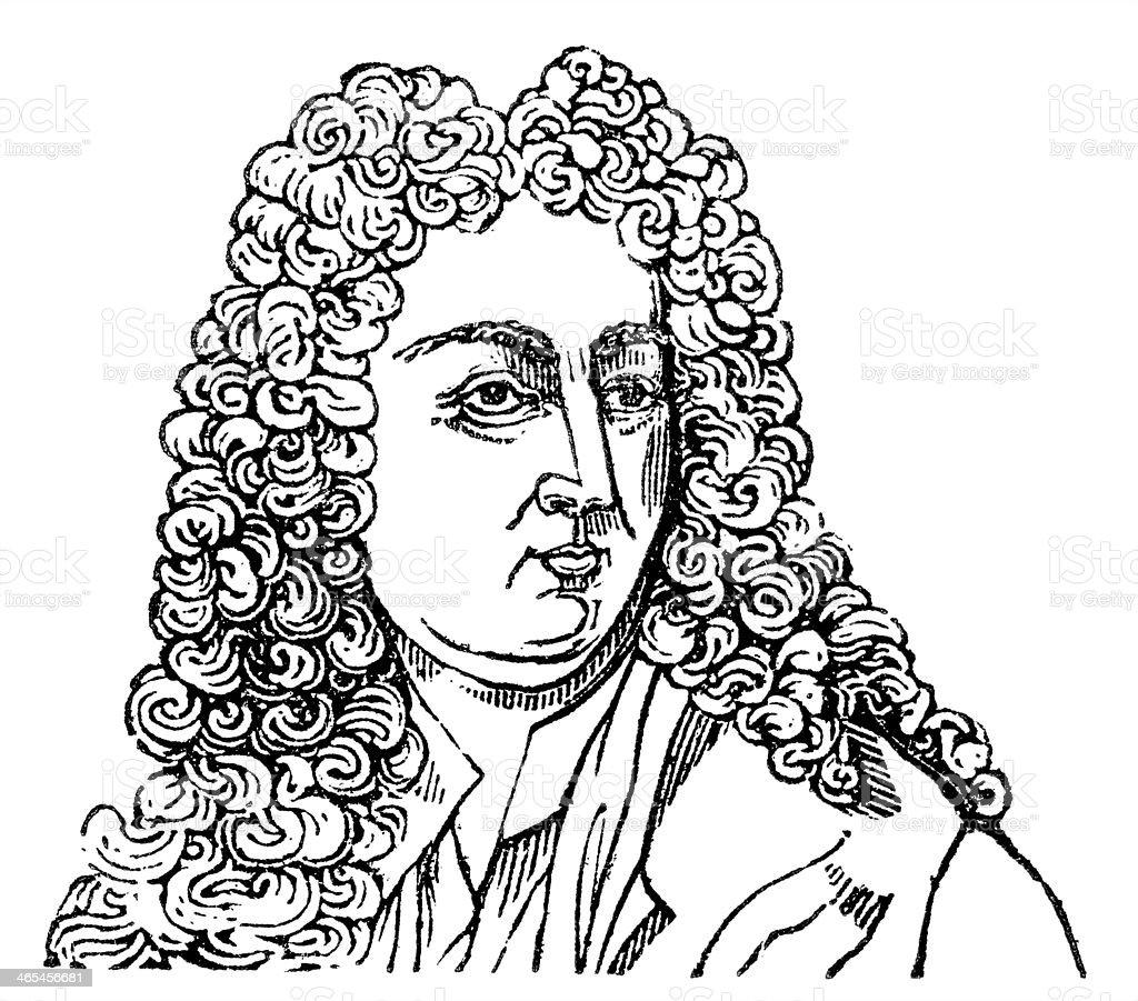 Joseph Addison vector art illustration