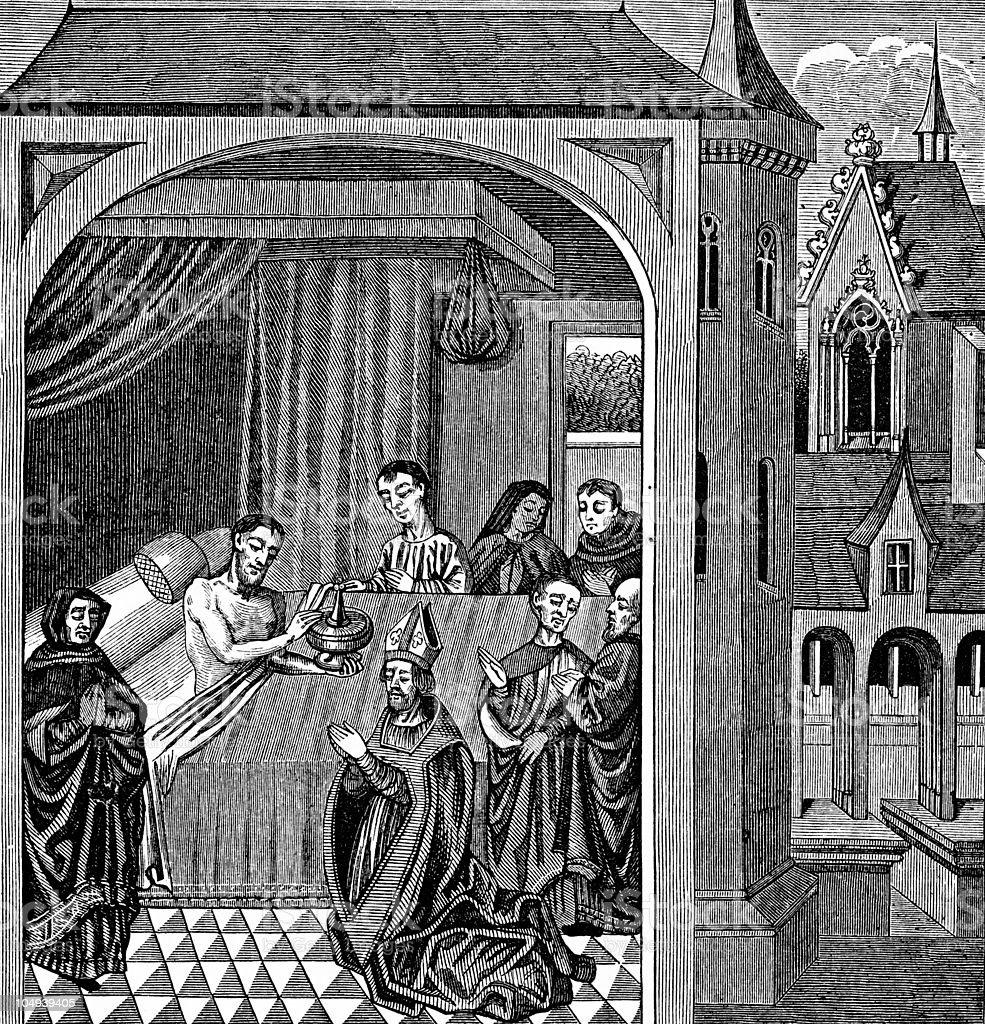 Joseph of Arimathea and the Holy Grail vector art illustration