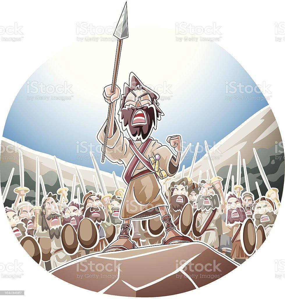 Joshua's spear royalty-free stock vector art