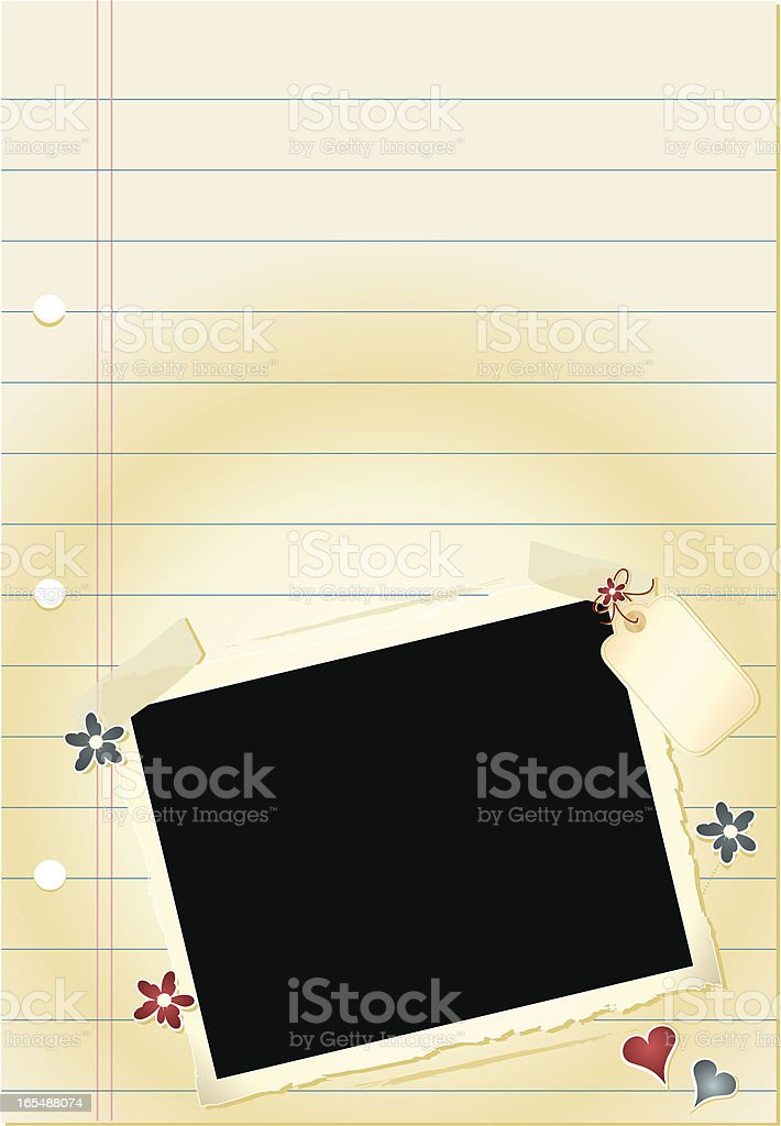 Journal Page - Any Occasion royalty-free stock vector art