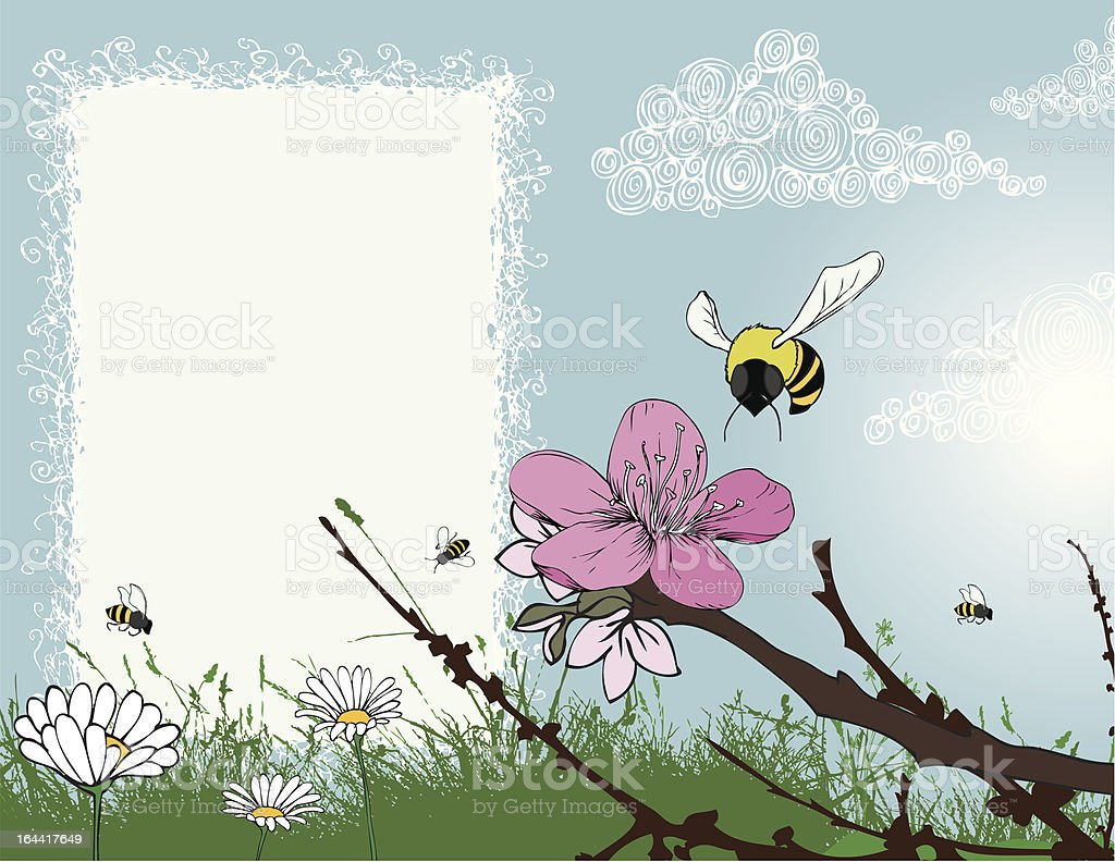 Journal Spring Bees royalty-free stock vector art