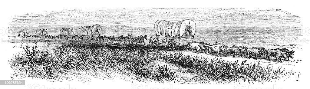 Journey west vector art illustration