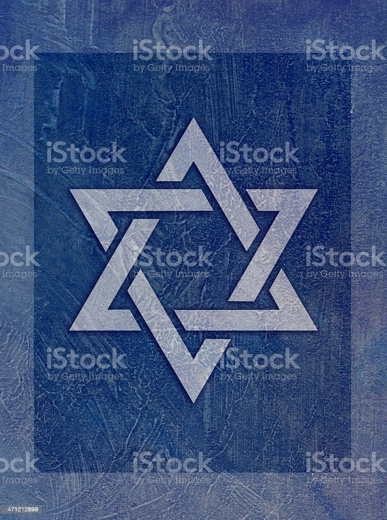 Judaism - Jewish Faith Star of David Blue Grunge royalty-free stock vector art