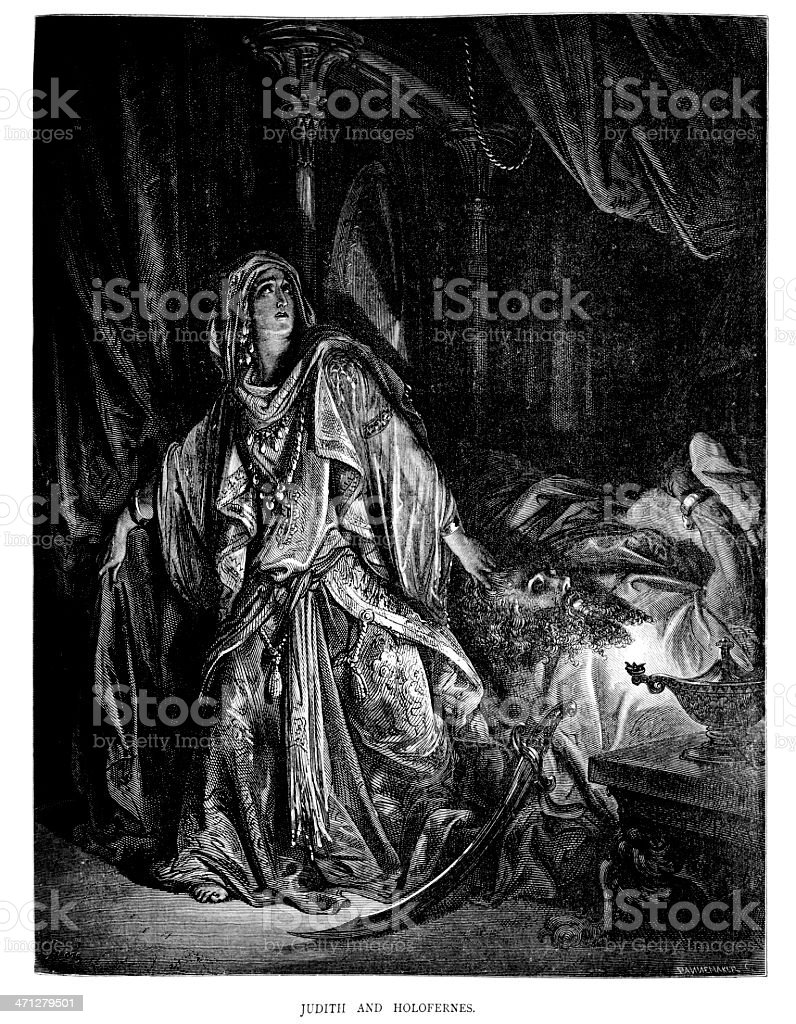 Judith and Holofernes royalty-free stock vector art