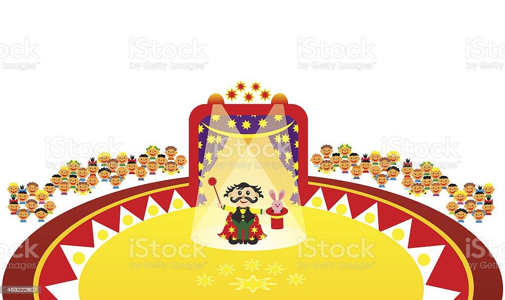 jugglers performance in circus royalty-free stock vector art